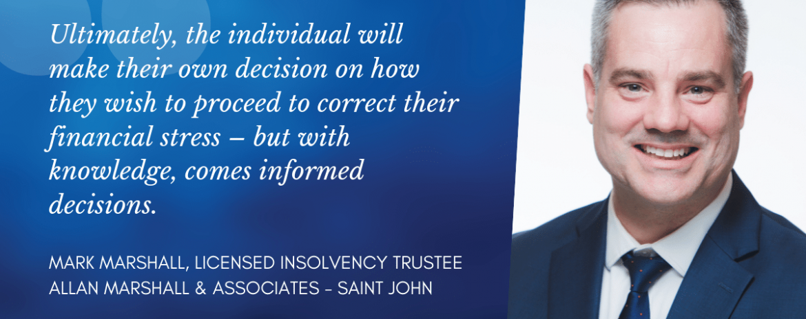Mark Marshall - one of the Saint John Licensed Insolvency Trustee