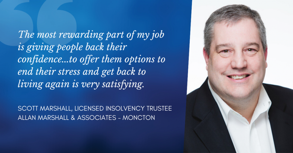Scott Marshall - one of Moncton Licensed Insolvency Trustees